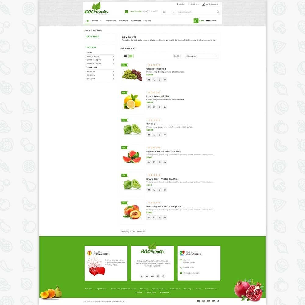 theme - Saúde & Beleza - Eco  - Friendly Organic Food Template - 4