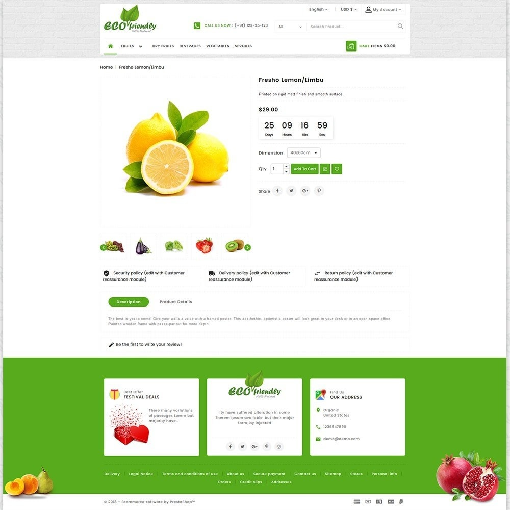 theme - Saúde & Beleza - Eco  - Friendly Organic Food Template - 5