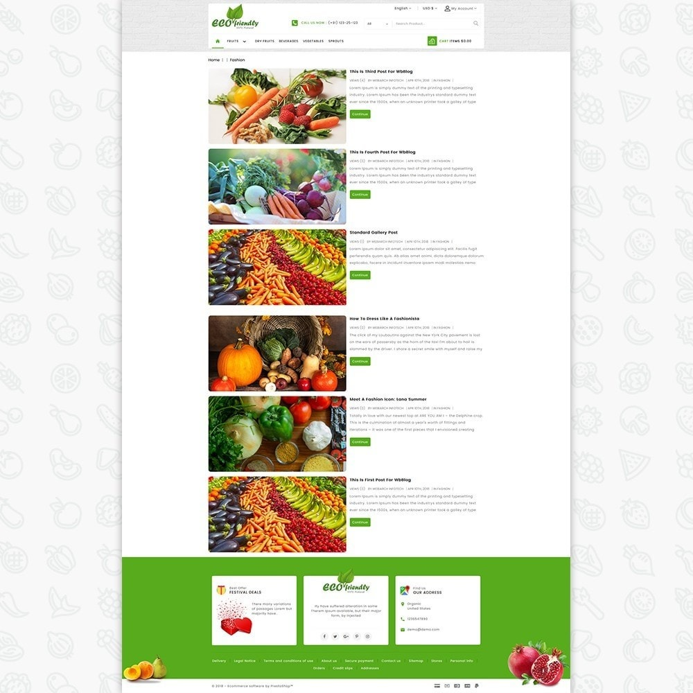 theme - Saúde & Beleza - Eco  - Friendly Organic Food Template - 6