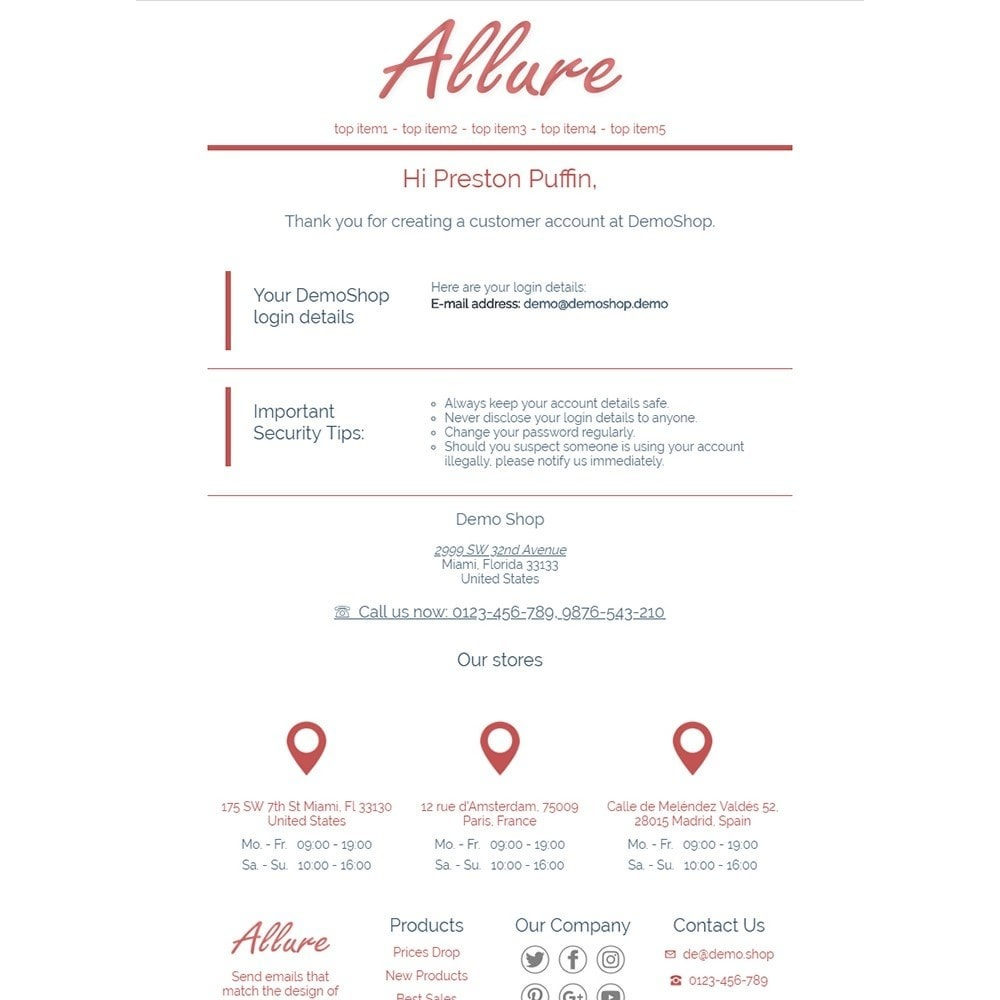 email - Template di e-mail PrestaShop - Allure - Email templates - 2