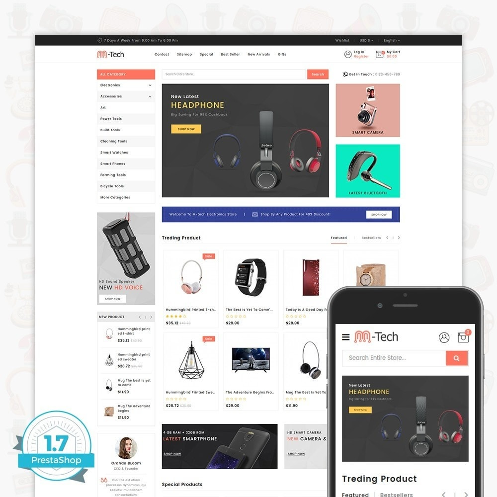 theme - Электроника и компьютеры - M-Tech- The Online Shopping - 1