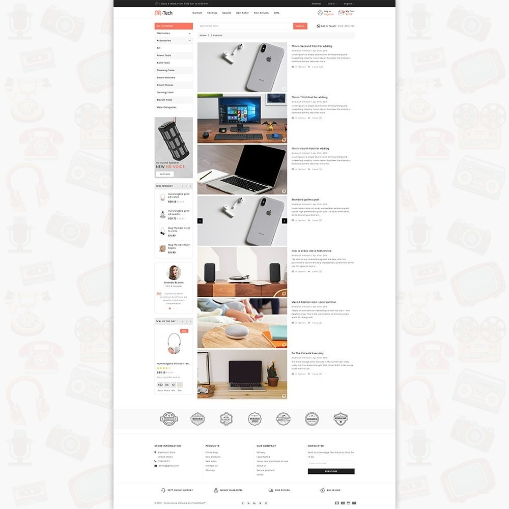 theme - Elettronica & High Tech - M-Tech- The Online Shopping - 6