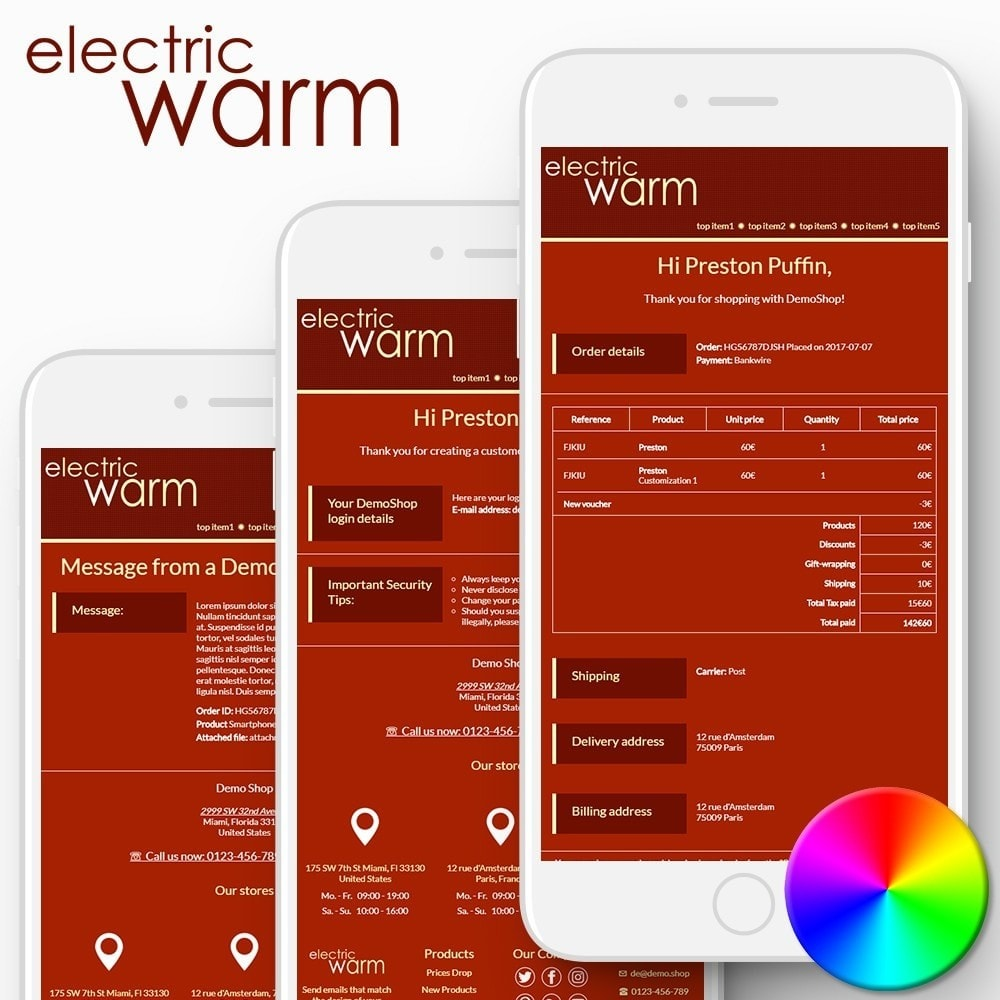email - Email templates PrestaShop - Electric Warm - Email templates - 1