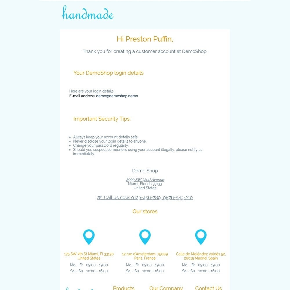 email - Template di e-mail PrestaShop - Handmade - Email templates - 2
