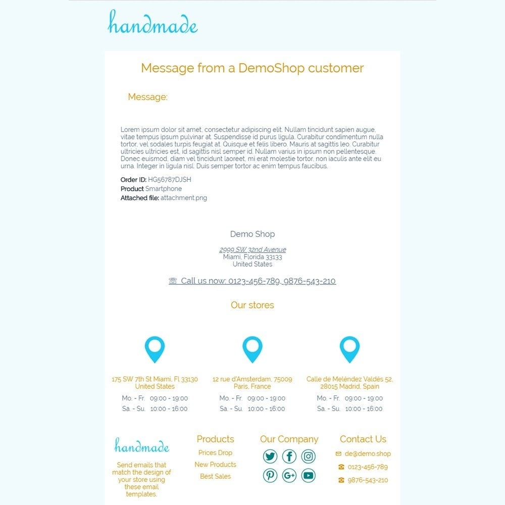 email - Template di e-mail PrestaShop - Handmade - Email templates - 3