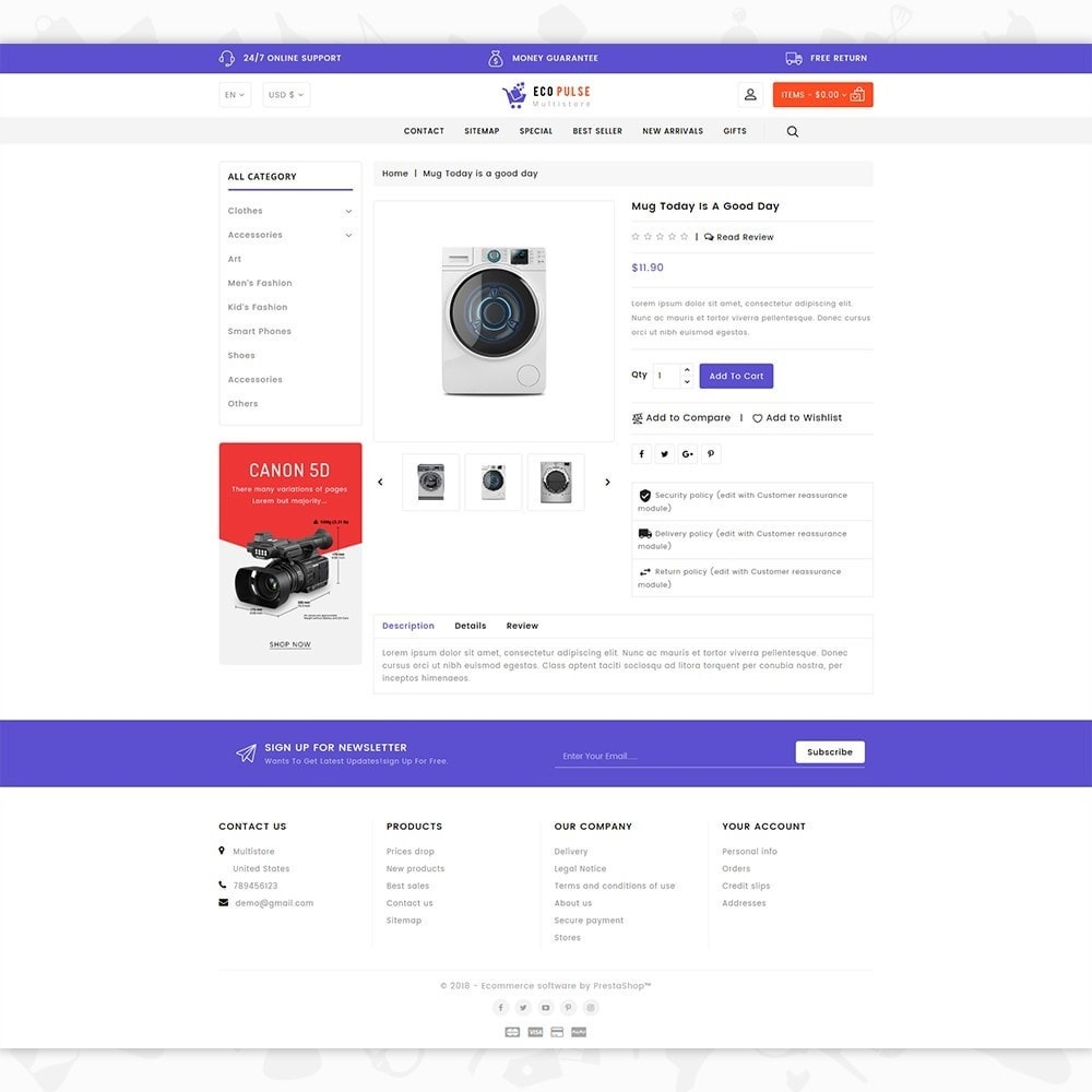 theme - Elettronica & High Tech - EcoPulse - The Online Shopping - 5