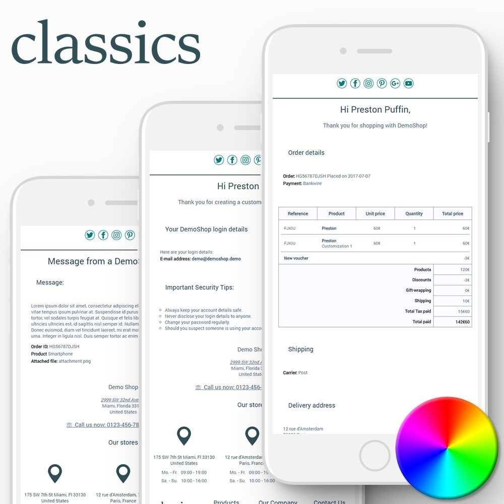 email - Email templates PrestaShop - Classics - Email templates - 1