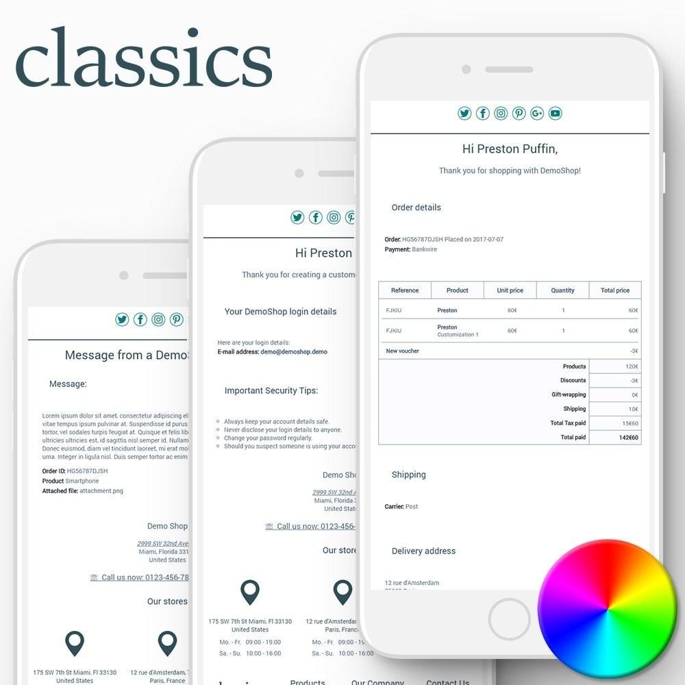 email - Modelos de e-mails da PrestaShop - Classics - Email templates - 1