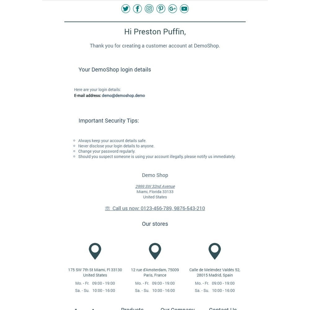 email - Email templates PrestaShop - Classics - Email templates - 2