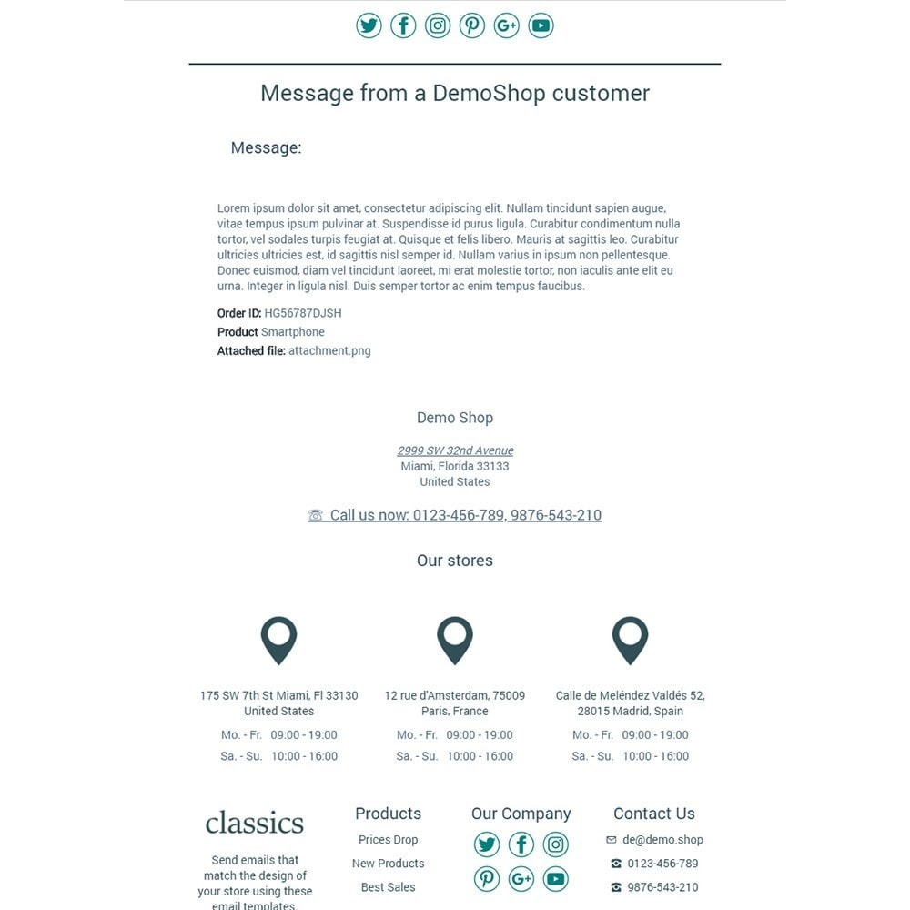 email - Email templates PrestaShop - Classics - Email templates - 3