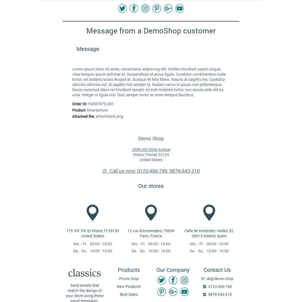 email - Modelos de e-mails da PrestaShop - Classics - Email templates - 3
