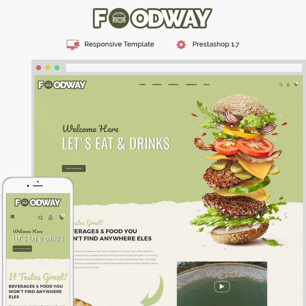 theme - Alimentation & Restauration - Foodway Demo Store - 1