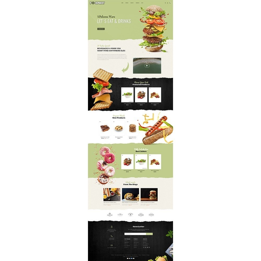 theme - Alimentation & Restauration - Foodway Demo Store - 2