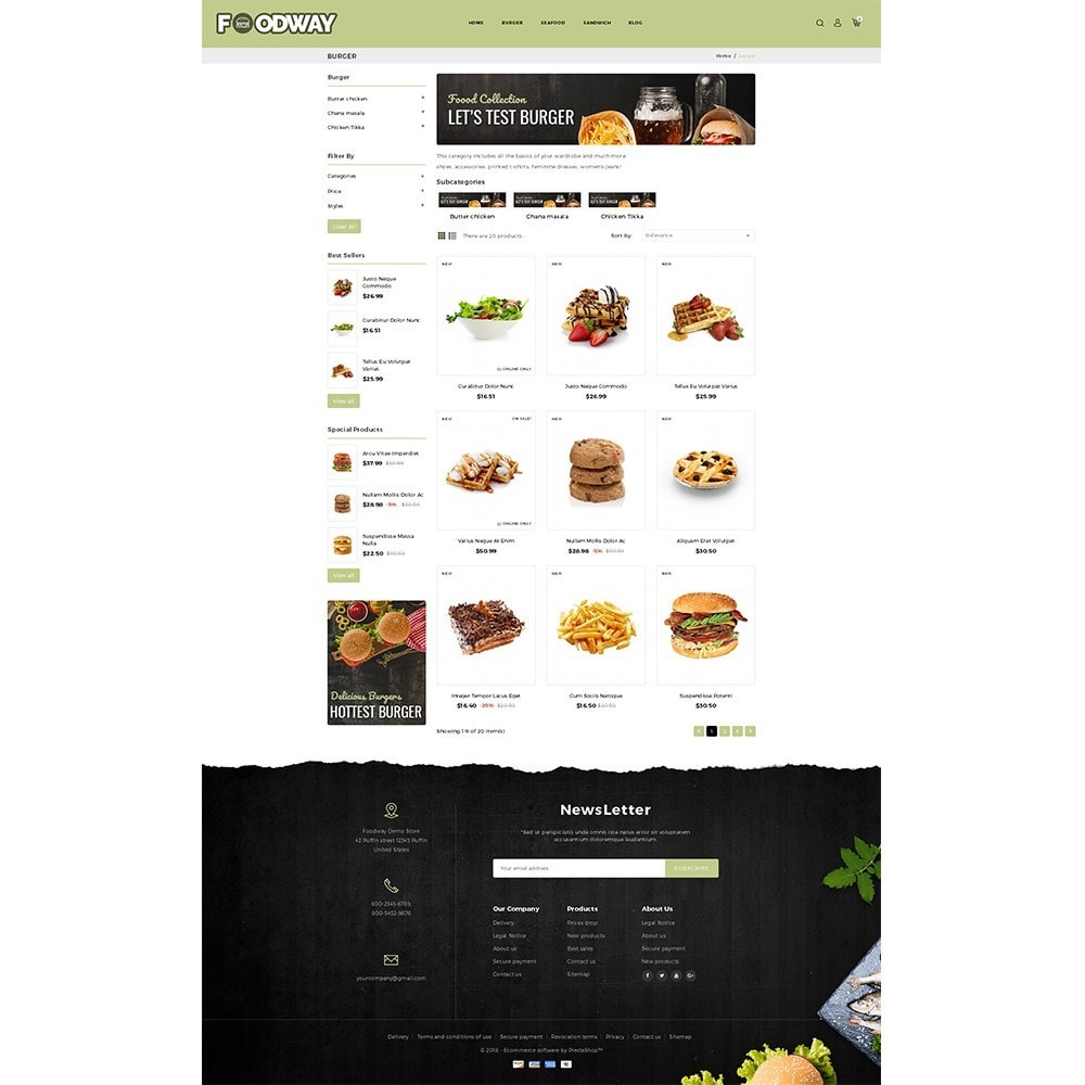 theme - Food & Restaurant - Foodway Demo Store - 3
