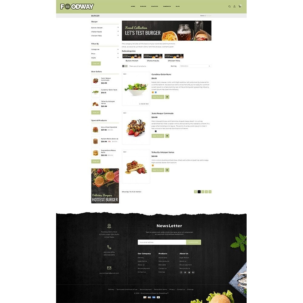 theme - Food & Restaurant - Foodway Demo Store - 4