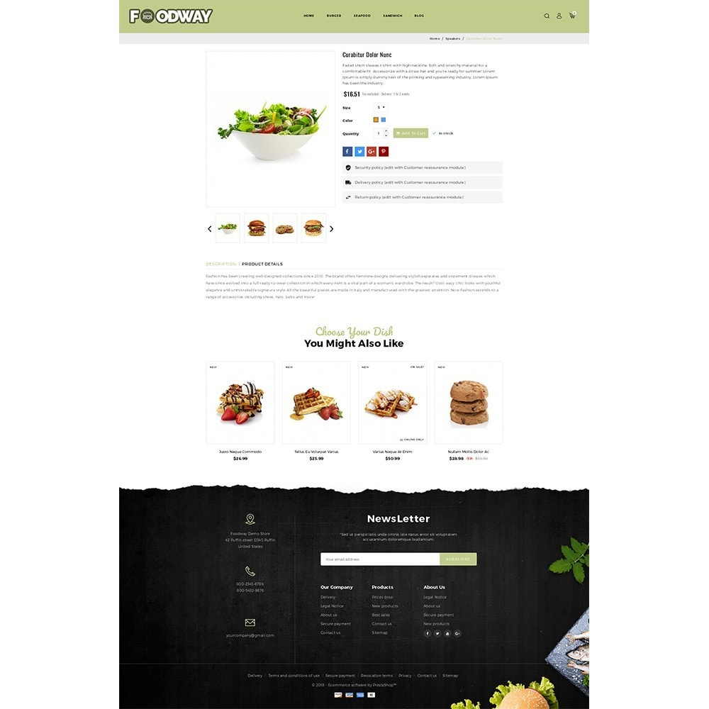 theme - Food & Restaurant - Foodway Demo Store - 5
