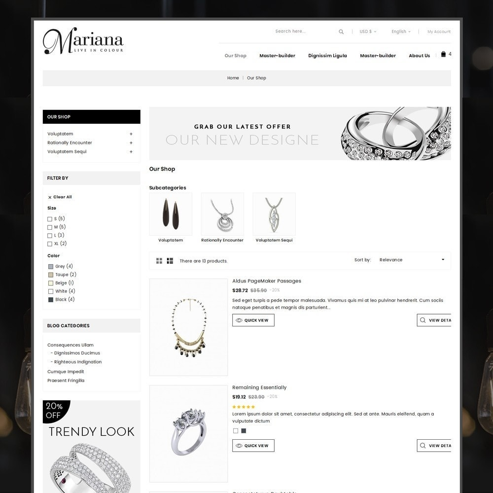 theme - Bijoux & Accessoires - Mariana - The Jewelry Store - 5