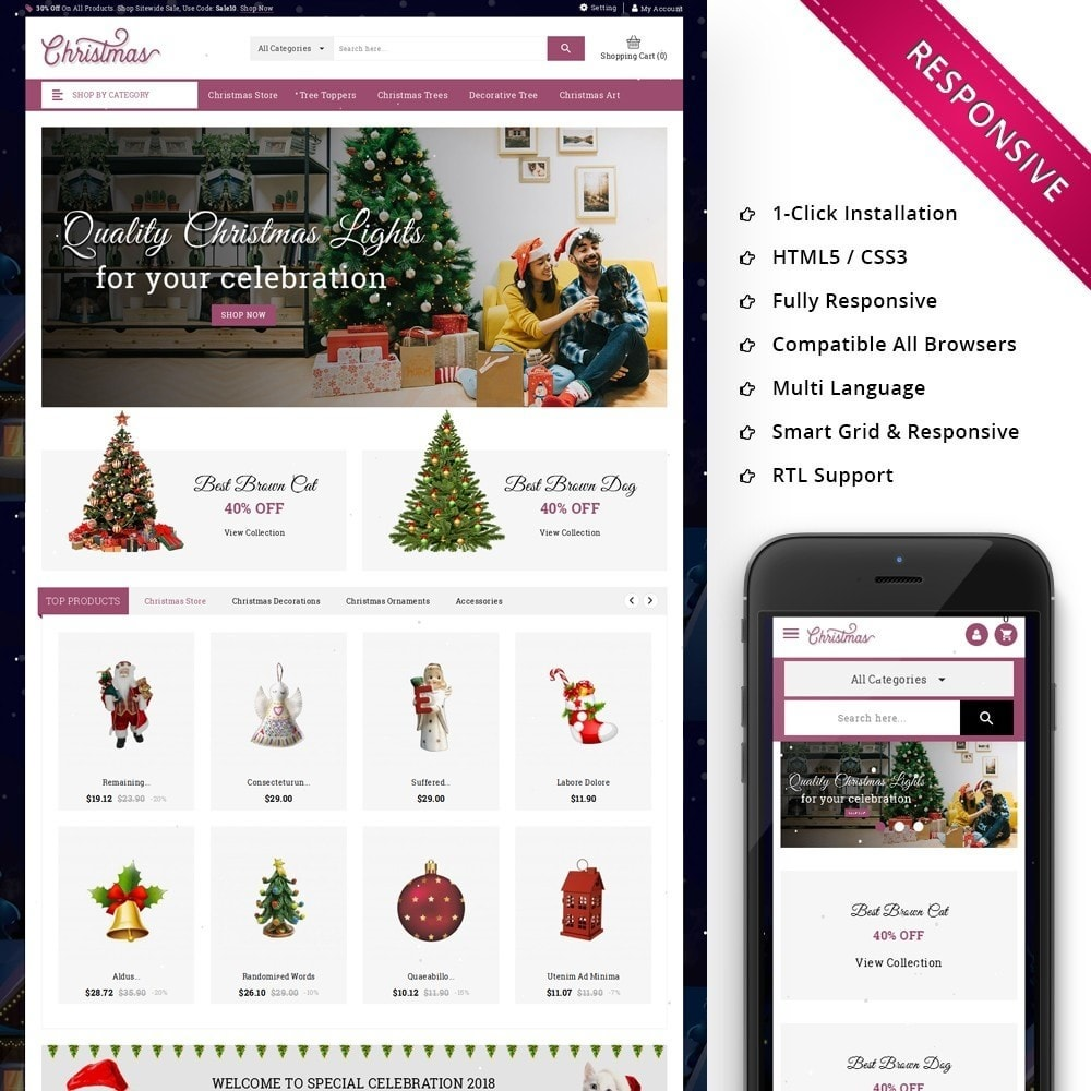 theme - Cadeaus, Bloemen & Gelegenheden - Christmas - The Gift Shop - 1