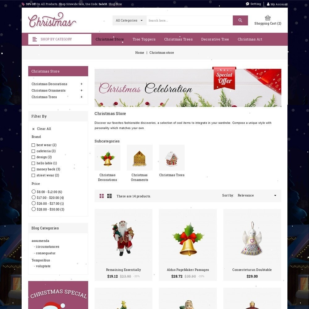 theme - Cadeaus, Bloemen & Gelegenheden - Christmas - The Gift Shop - 4