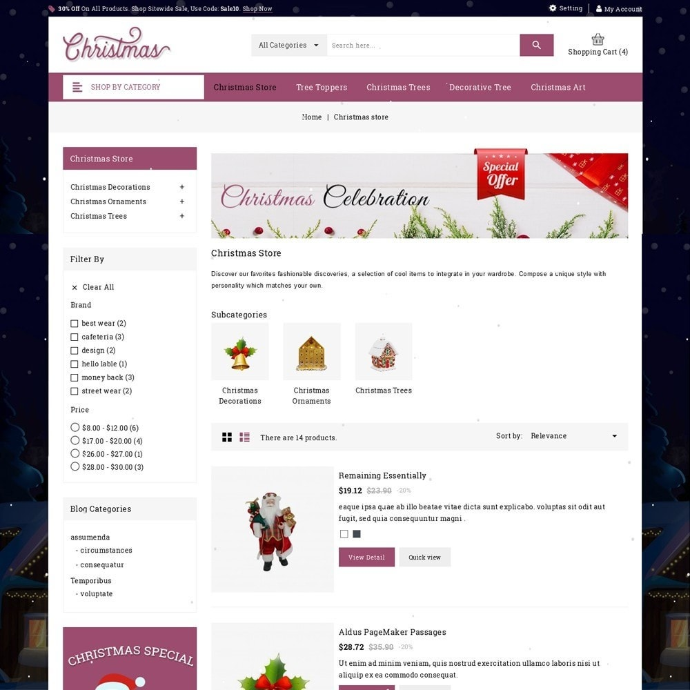 theme - Cadeaus, Bloemen & Gelegenheden - Christmas - The Gift Shop - 5