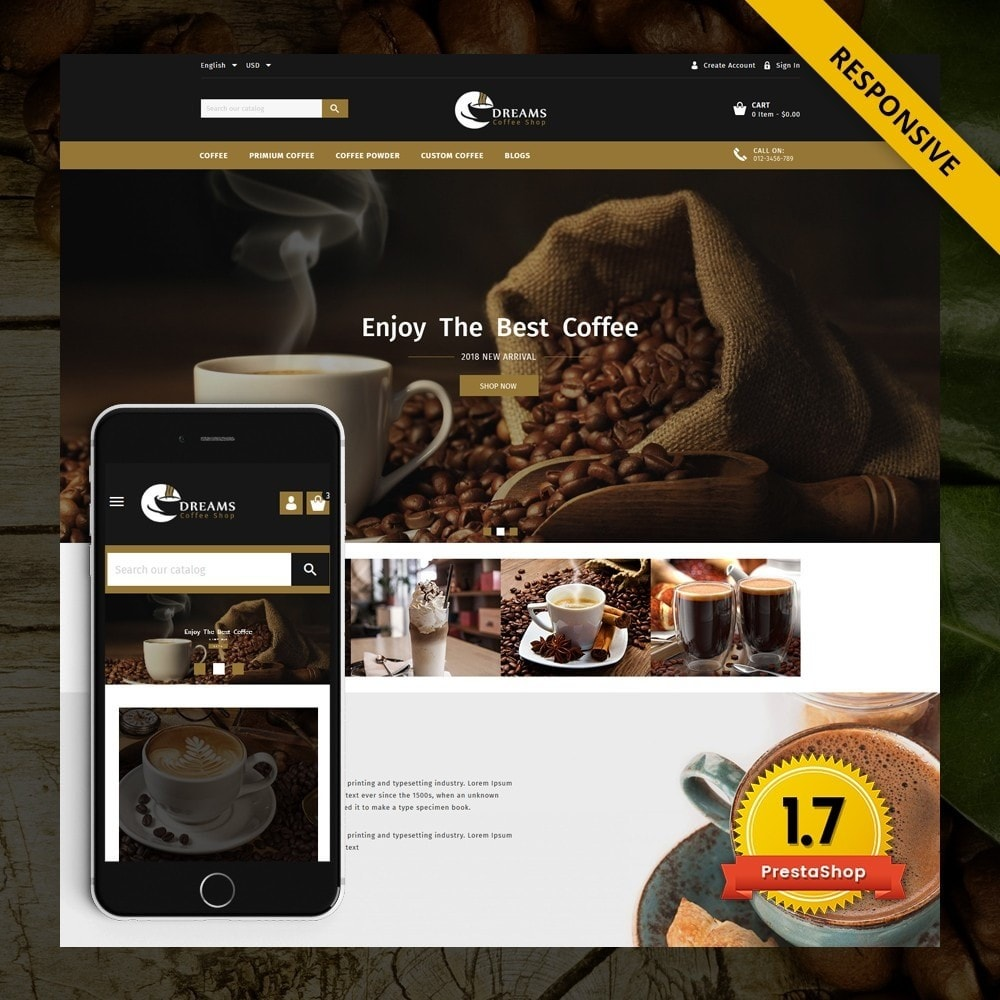 theme - Продовольствие и рестораны - Dreams - Coffee Shop - 1