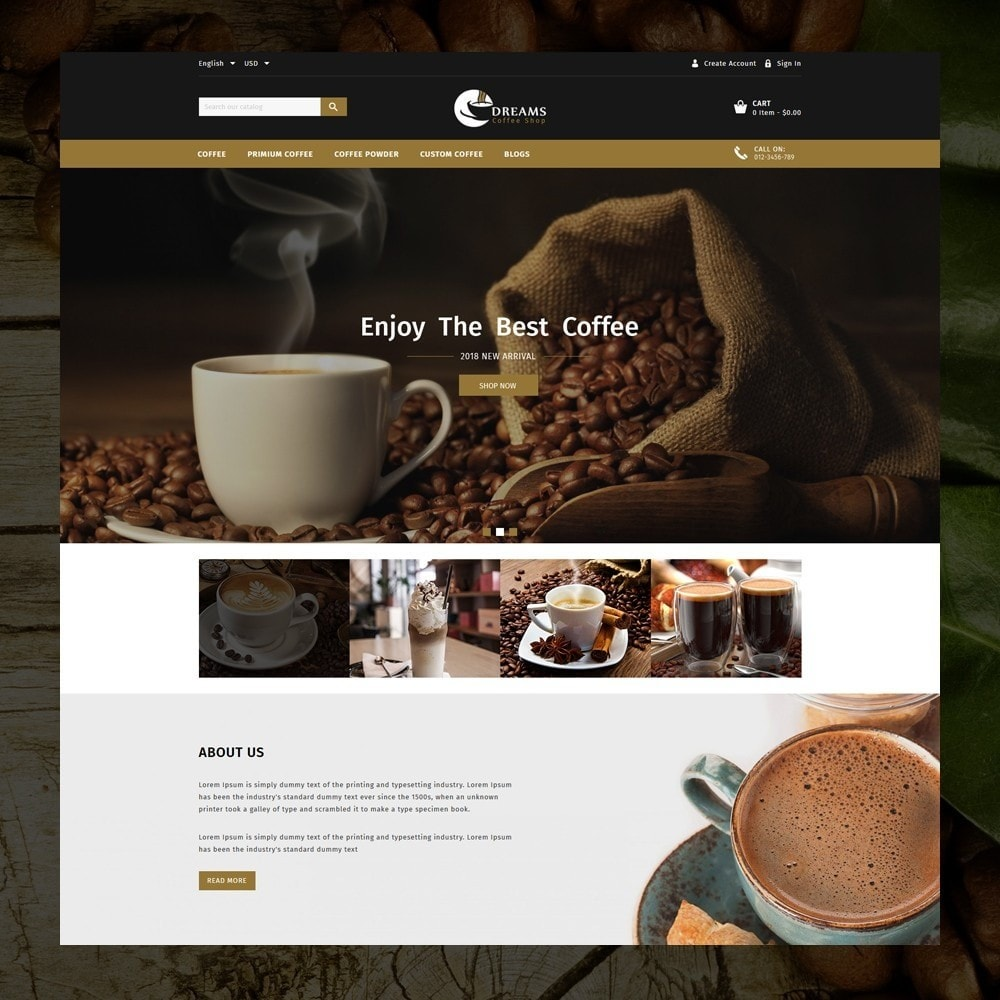 theme - Продовольствие и рестораны - Dreams - Coffee Shop - 2