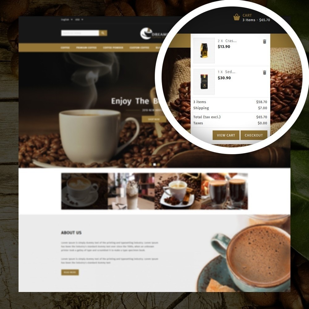theme - Продовольствие и рестораны - Dreams - Coffee Shop - 6