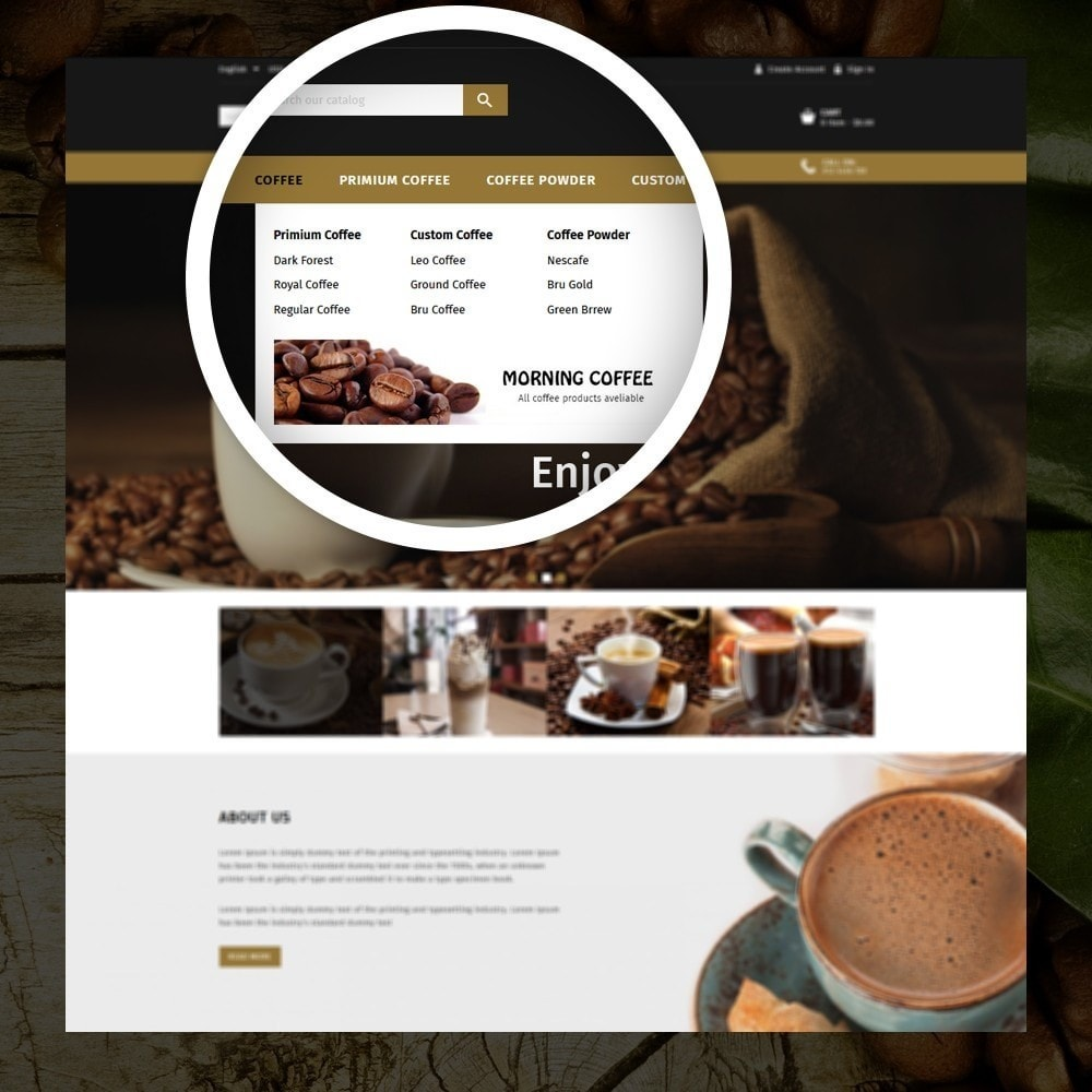 theme - Продовольствие и рестораны - Dreams - Coffee Shop - 7