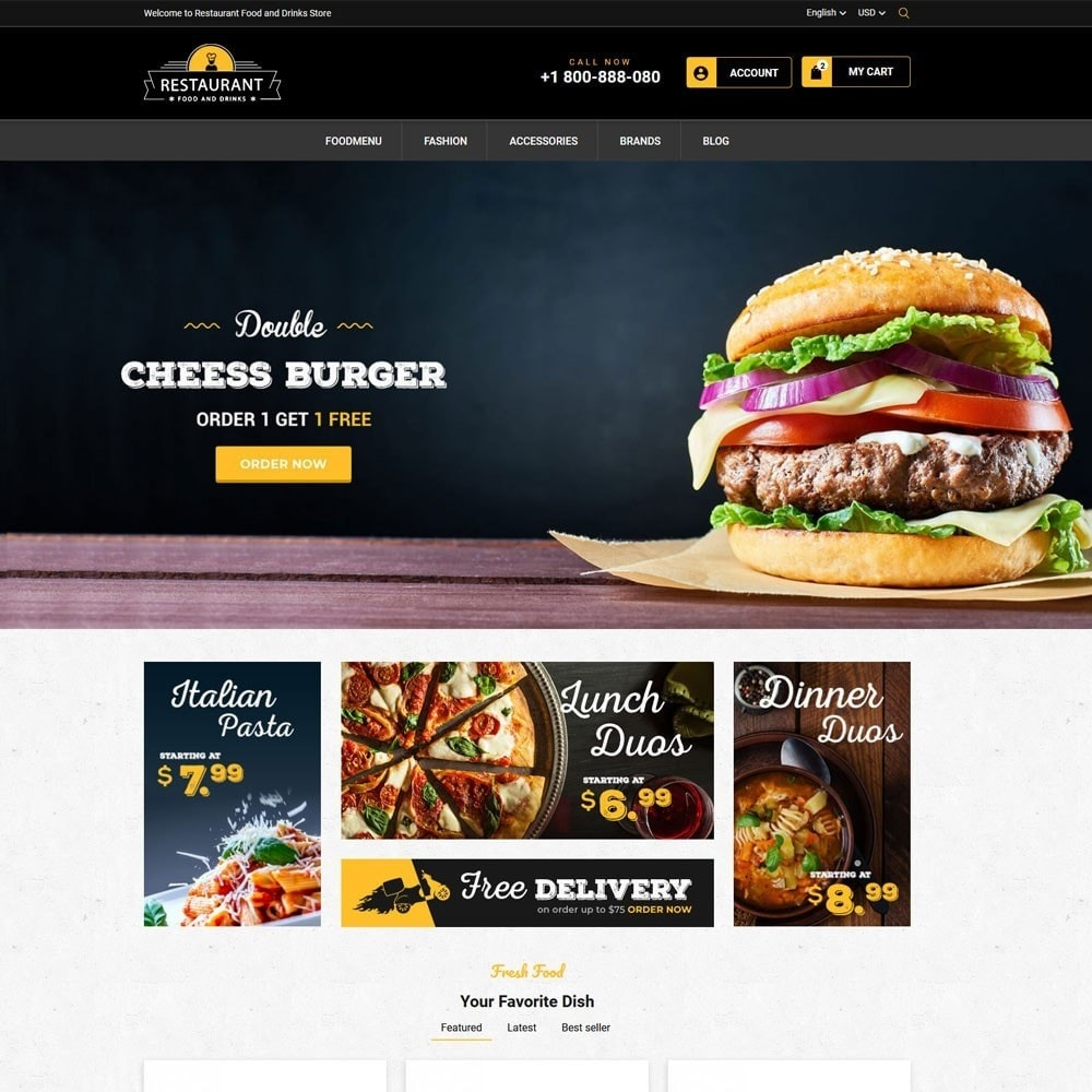 theme - Продовольствие и рестораны - Restaurant Food And Drinks Store - 2