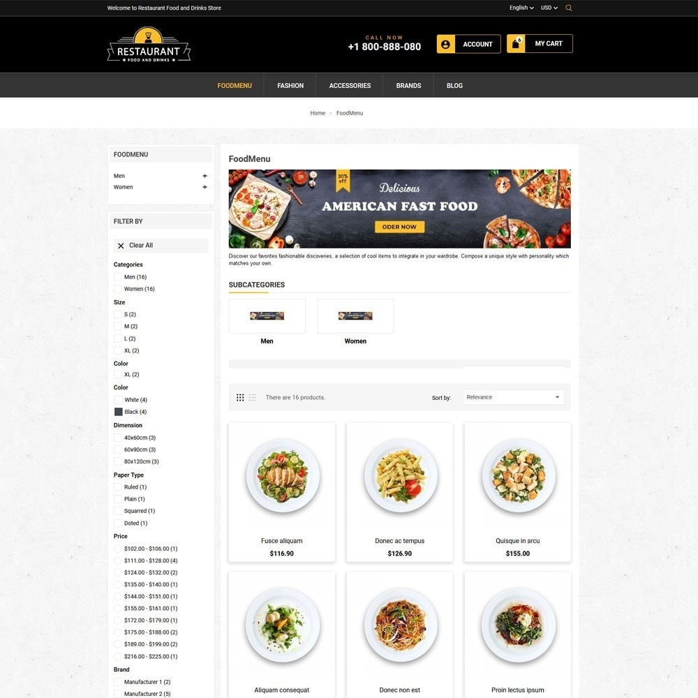 theme - Продовольствие и рестораны - Restaurant Food And Drinks Store - 5