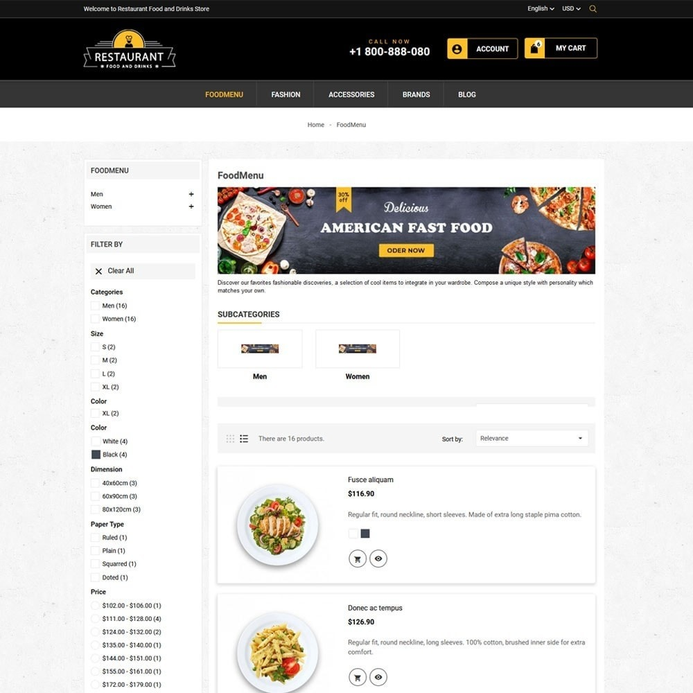theme - Продовольствие и рестораны - Restaurant Food And Drinks Store - 6