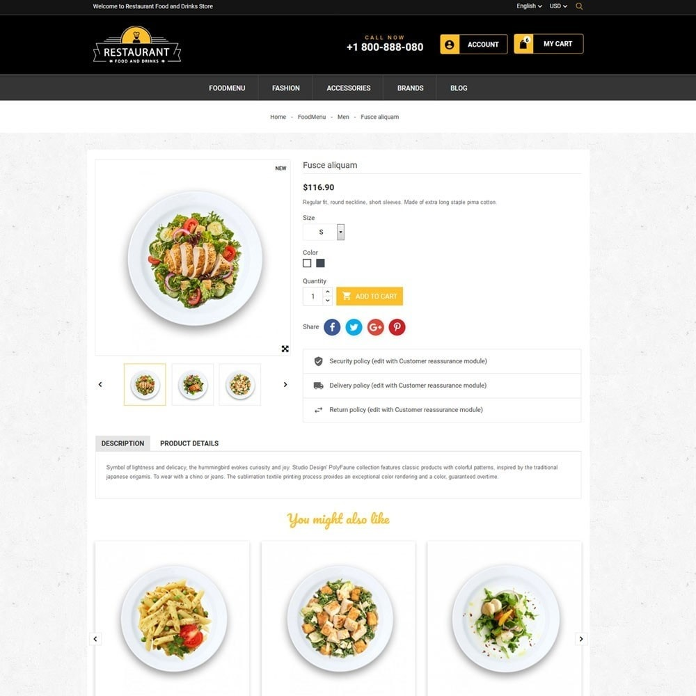 theme - Продовольствие и рестораны - Restaurant Food And Drinks Store - 7