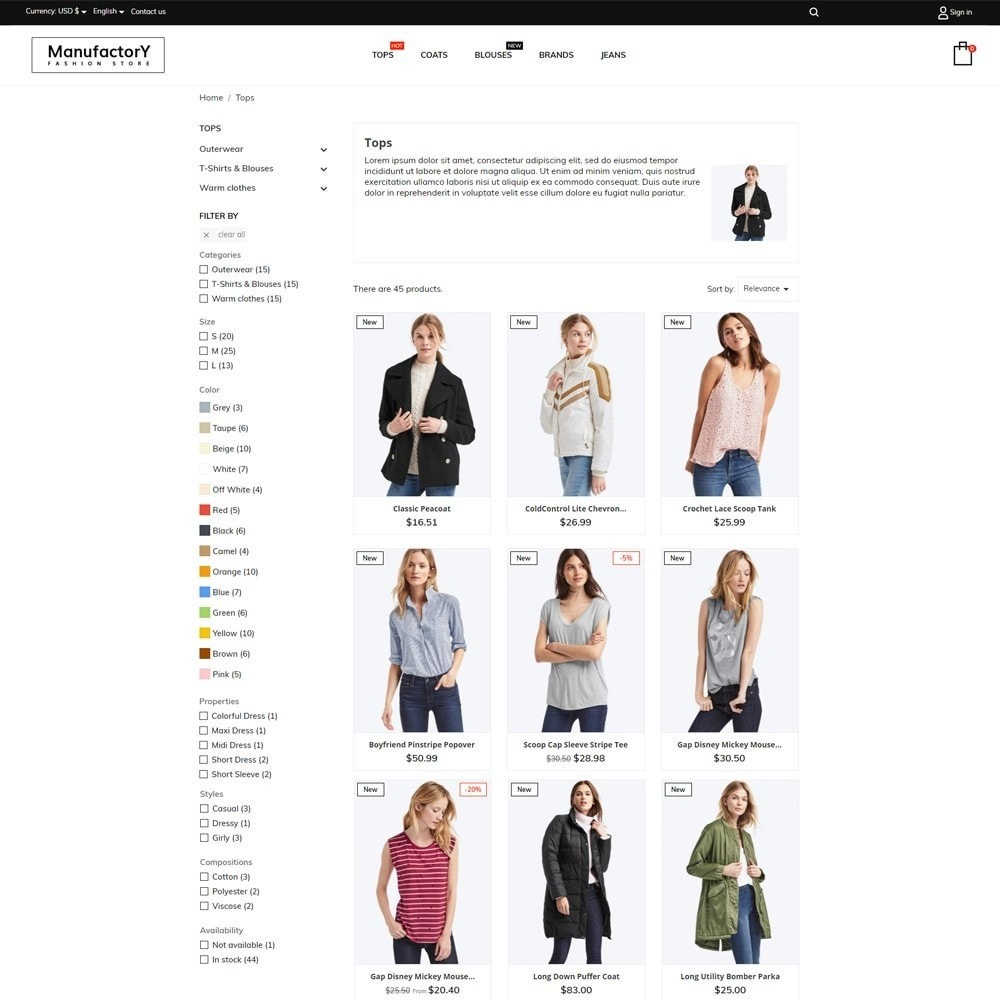 theme - Moda y Calzado - Manufactory Fashion Store - 6