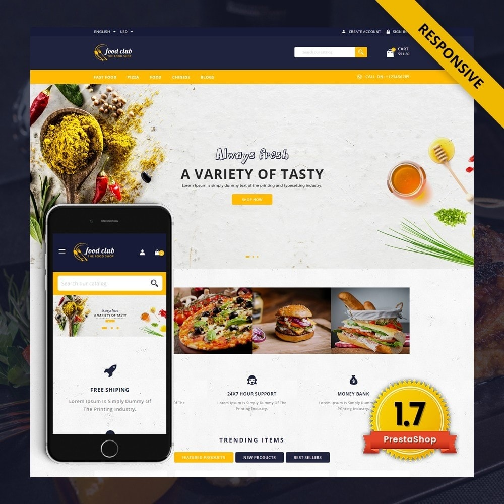 theme - Lebensmittel & Restaurants - FoodClub - Food Store - 1