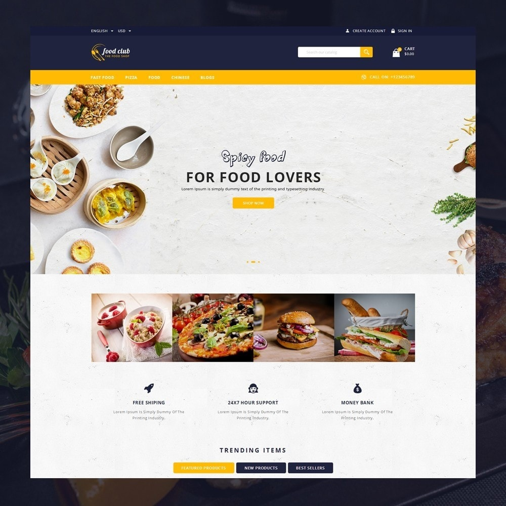 theme - Lebensmittel & Restaurants - FoodClub - Food Store - 2