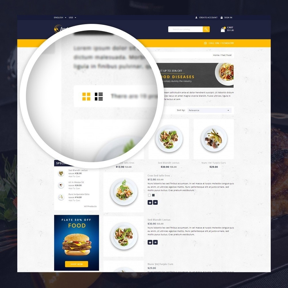 theme - Lebensmittel & Restaurants - FoodClub - Food Store - 3