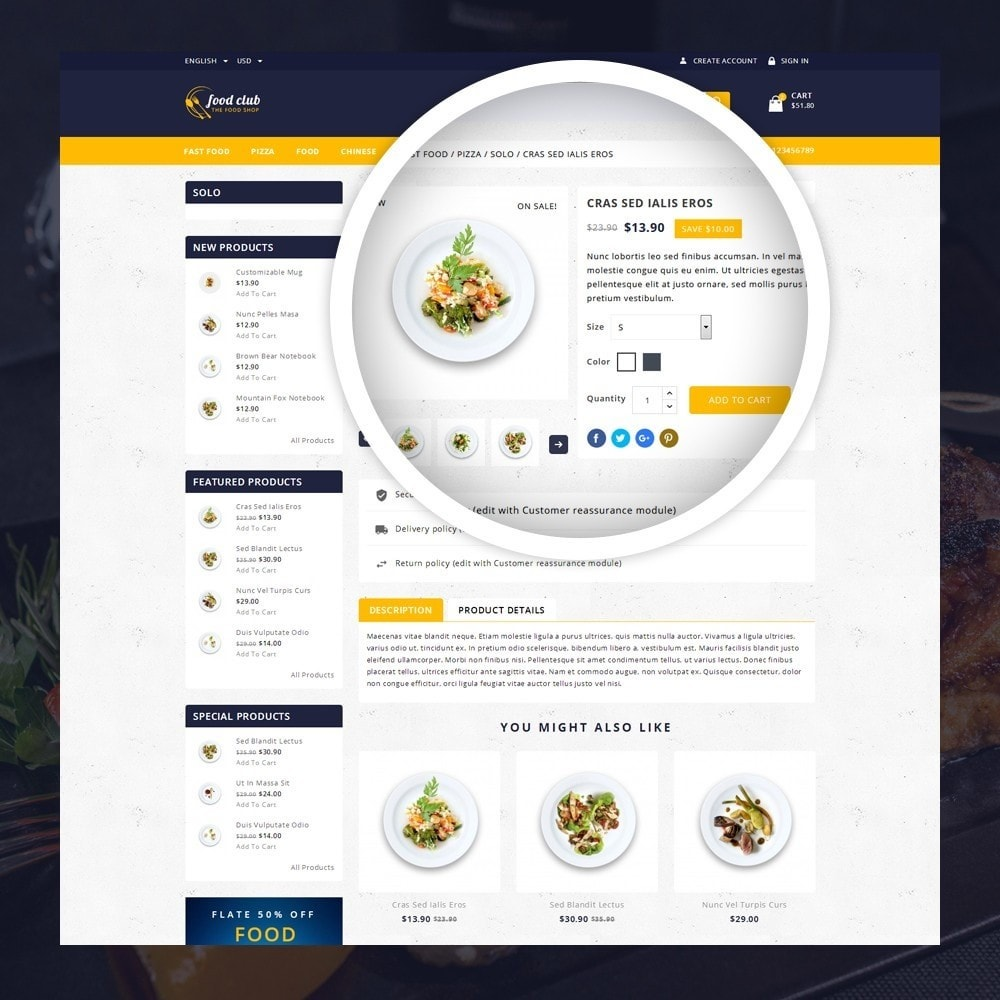 theme - Lebensmittel & Restaurants - FoodClub - Food Store - 4