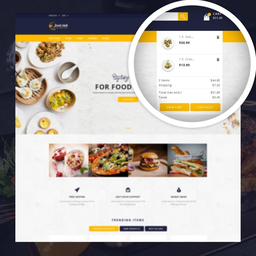 theme - Lebensmittel & Restaurants - FoodClub - Food Store - 6