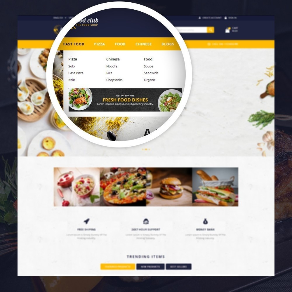 theme - Lebensmittel & Restaurants - FoodClub - Food Store - 7