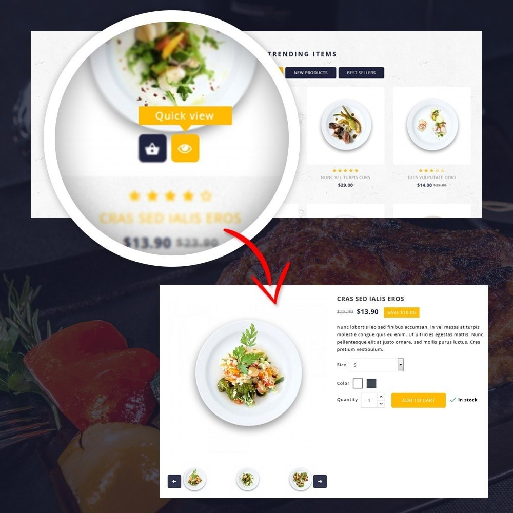 theme - Lebensmittel & Restaurants - FoodClub - Food Store - 8
