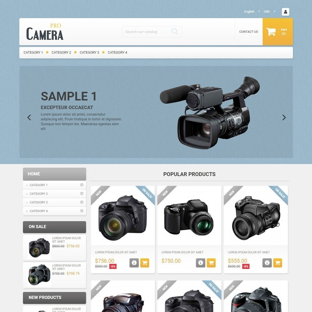 theme - Eletrônicos & High Tech - CameraPro - 1