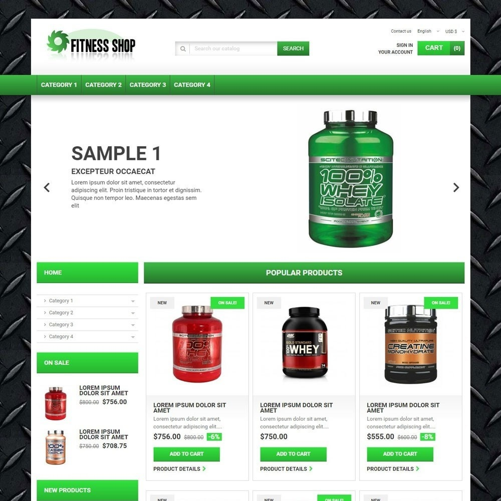 theme - Sport, Loisirs & Voyage - FitnessShop - 1