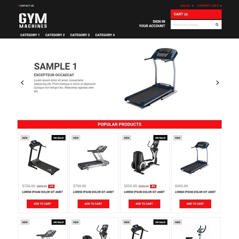 theme - Sports, Activities & Travel - GymMachines - 1