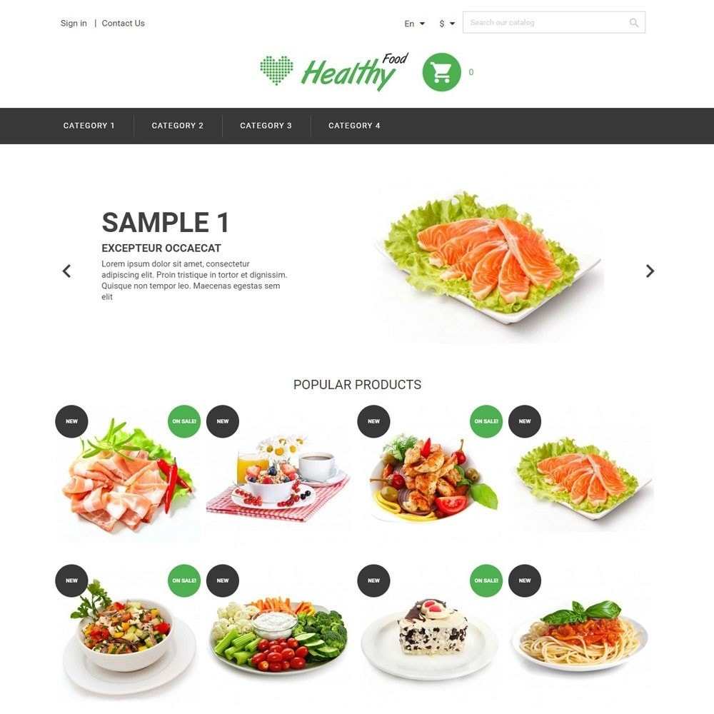 theme - Gastronomía y Restauración - HealthyFood - 1