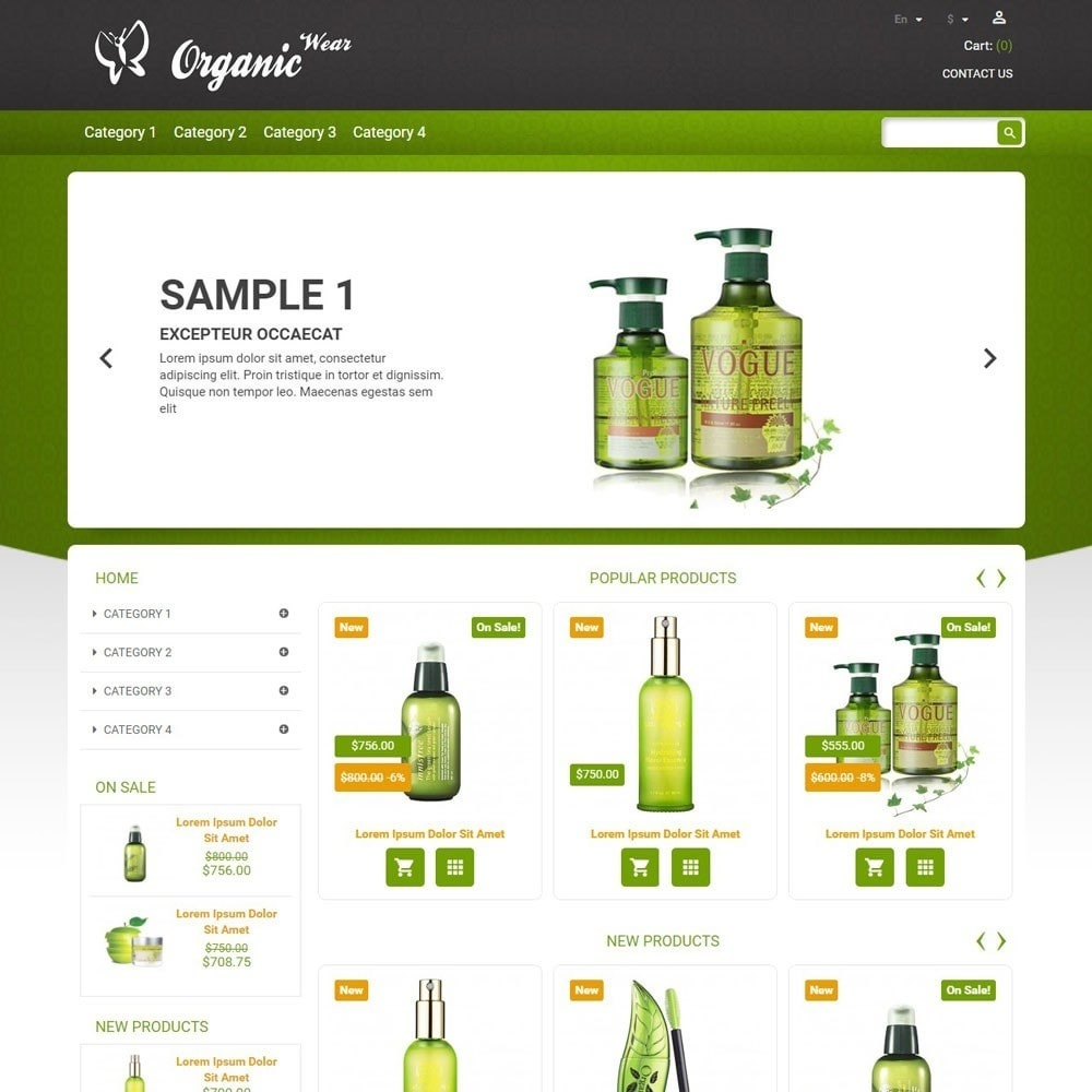 theme - Health & Beauty - OrganicWear - 1