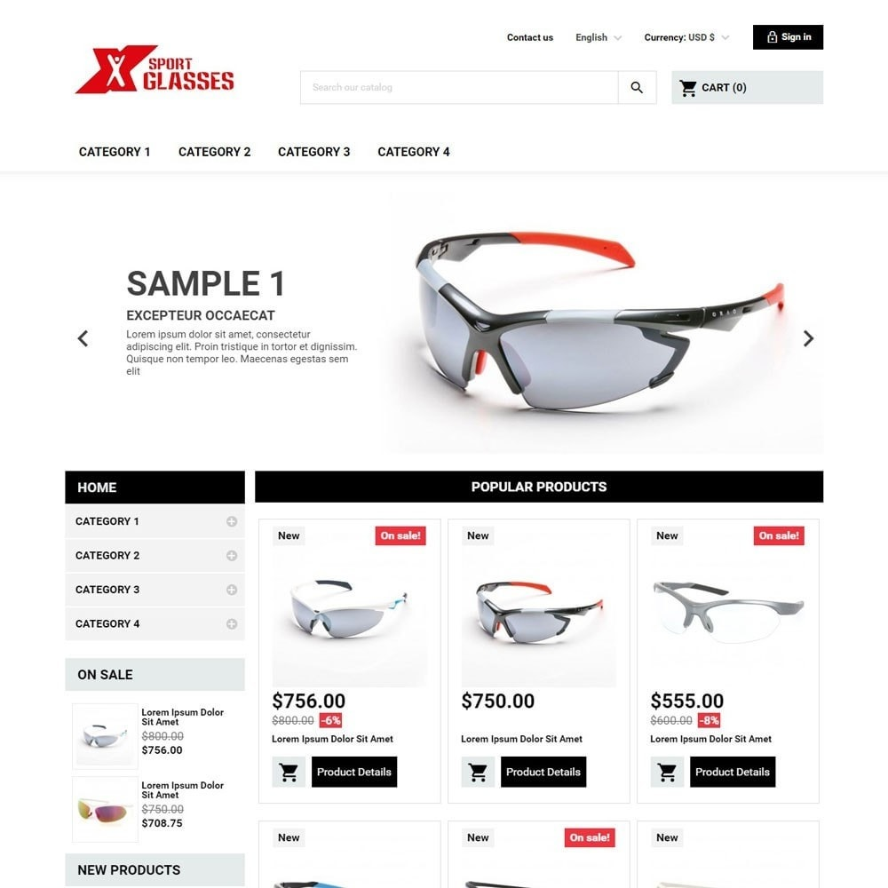 theme - Sports, Activities & Travel - SportGlasses - 1