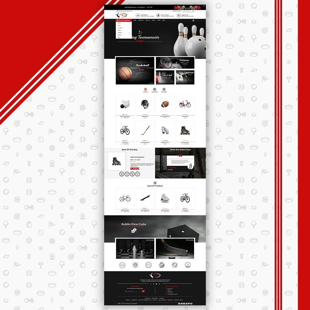 theme - Sports, Activities & Travel - Sport Store - 2