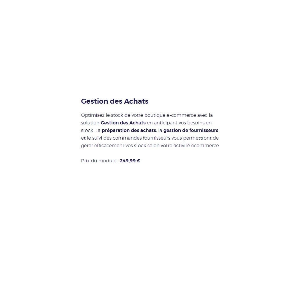 module - Zarządzanie zapasami &  Dostawcy - PrestaShop ERP - Purchase Order management - 11