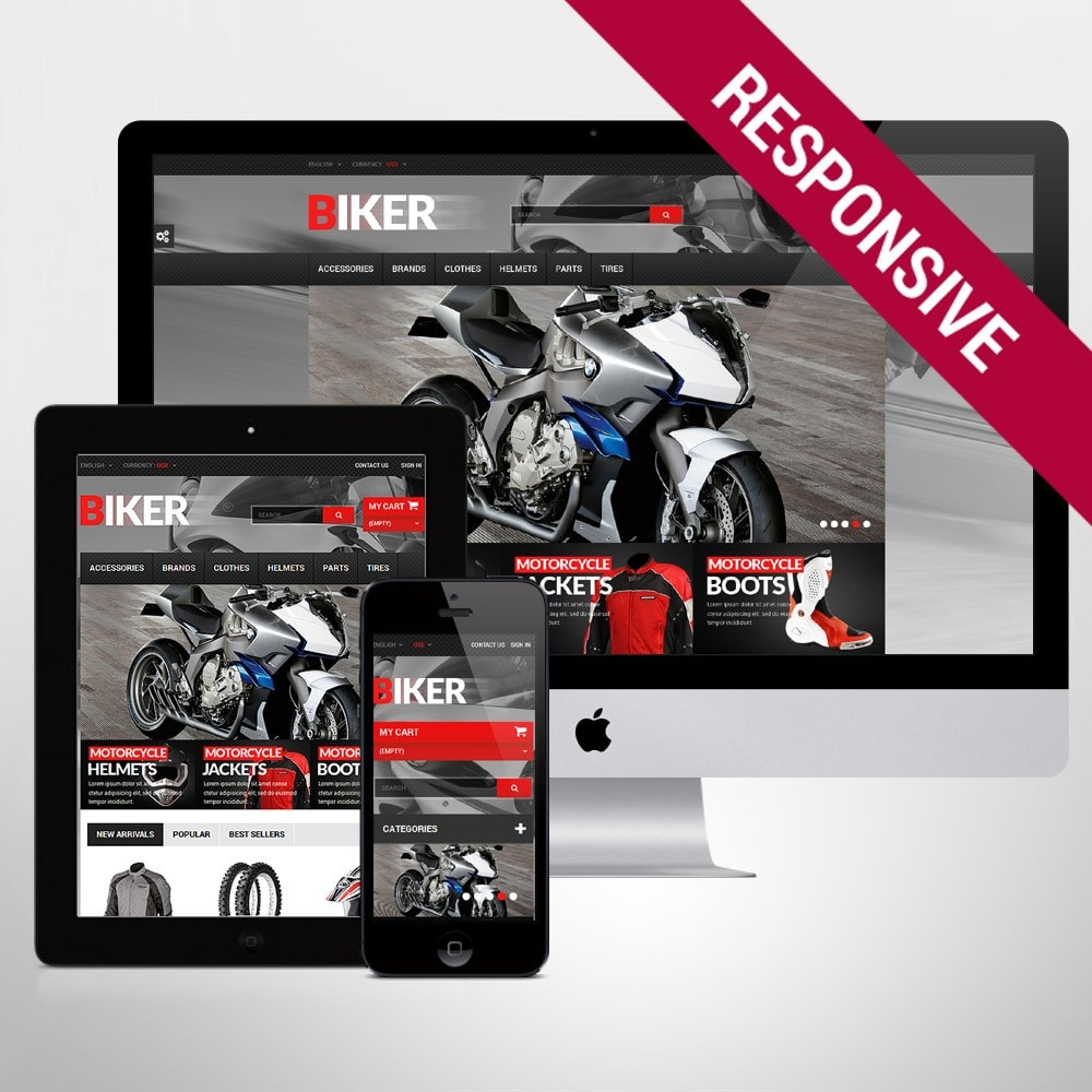 theme - Automotive & Cars - Biker - 1