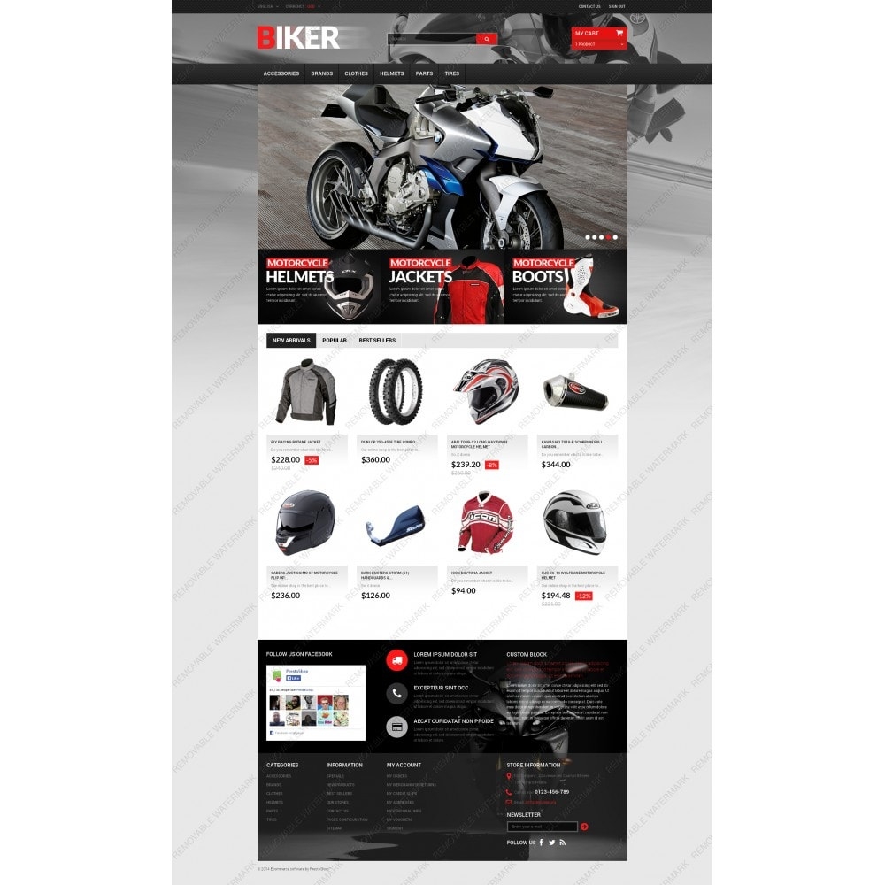 theme - Automotive & Cars - Biker - 3